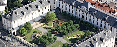 Le jardin « Art, mémoire et vie » du Centre Paul Spillmann de l'hôpital Saint-Julien à Nancy