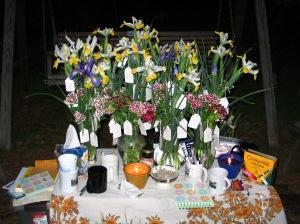 Ces bouquets ont été fabriqué pour une cérémonie sur le chagrin.