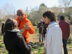 Sébastien Guéret (en orange) pendant une formation.