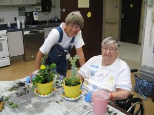 Sue Kaylor avec une patiente