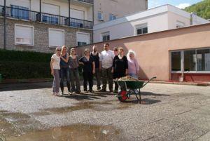 La bande de bénévoles qui a entrepris les premiers aménagements début mai.
