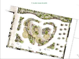 Le projet proposé par la paysagiste Laurence Garfield.