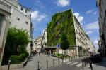 Le mur végétalisé dans le quartier du Sentier (2e)