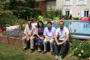 De gauche à droite : Jean-Yves Pauchard, Nathalie Joulié-Morand, Guillaume Berthier, et Philippe Pauchard.