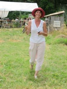Lors d'une journée autour du potager organisée avec Jardin, Art et Soin et à laquelle avait participé Martine Brulé.