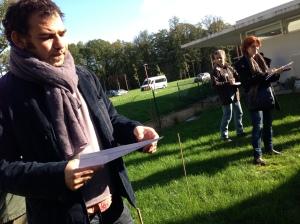 Sébastien Guéret pendant une formation à Chaumont-sur-Loire