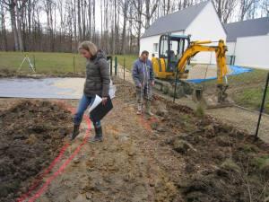 Travaux de terrassement, le chantier.