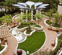 Décrit dans le livre, le Olson Family Garden à l'hôpital pour enfants de Saint Louis est une oasis de 750 m2 installée en terrasse.