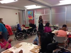 Avec de jeunes femmes handicapees du WID (womens initiative for disability) du NYU langone medical center.