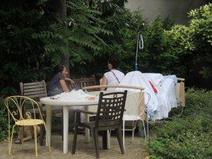 Un lit dehors (photographie de l'auteur en juillet 2014)