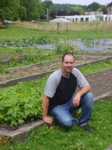 Alain Flandroit, le concepteur du Grand Jardin au CHP de Mons-Borinage en Belgique.