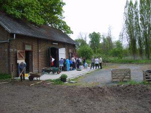 Le jardin occupe un espace anciennement utilisé pour l'hippothérapie.
