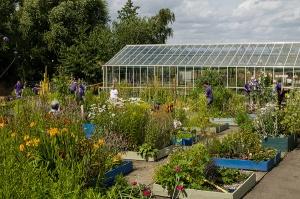 Une vue du jardin de Trunkwell