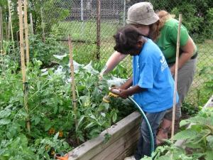 Jardiner avec les enfants Place Benoît