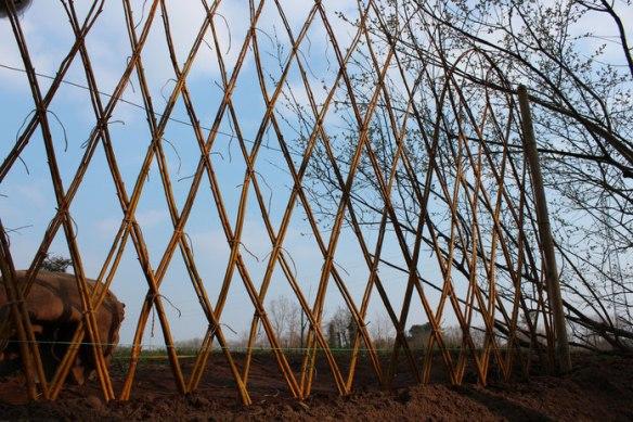 realisation-en-osier-separant-le-jardin-medieval-du-ruisseau-en-contrebas