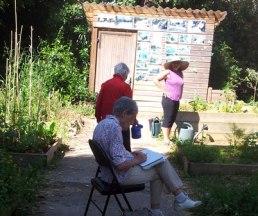 Activités artistiques au jardin